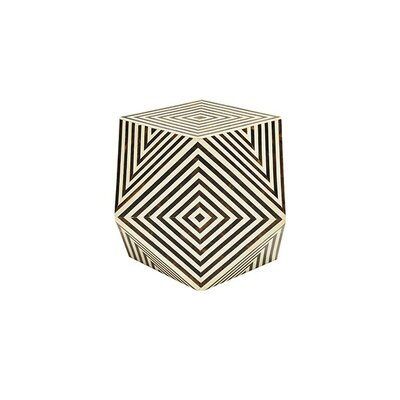 Geometric Bone End Table