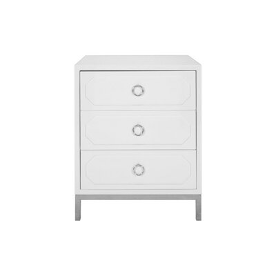 3 Drawer End Table Color: Nickel