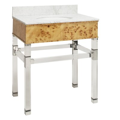 Chatham 31 Single Bathroom Vanity Set Top Finish: Burl Wood