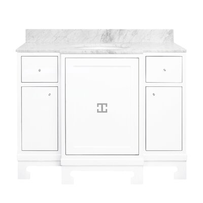Alice 43 Single Bathroom Vanity Set Base Finish: White