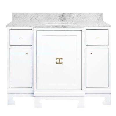 Alice 43 Single Bathroom Vanity Set Base Finish: White