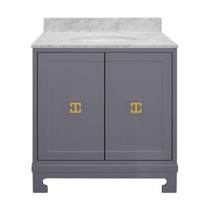 Candace 31 Single Bathroom Vanity Set Base Finish: Gray
