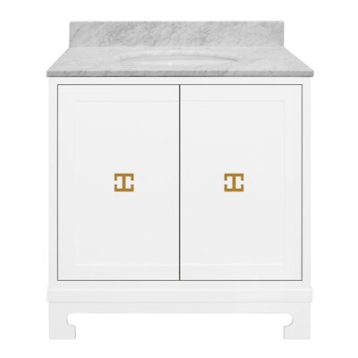 Candace 31 Single Bathroom Vanity Set Base Finish: White