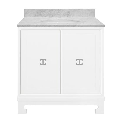 Candace 31 Single Bathroom Vanity Set Base Finish: White