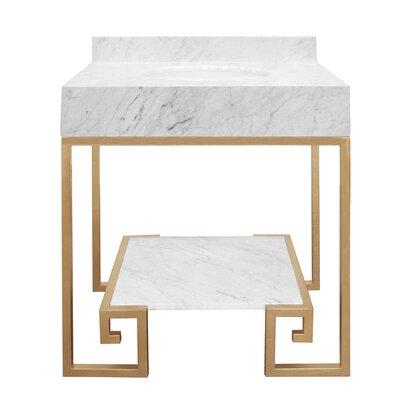 Fulton 31 Single Bathroom Vanity Set Base Finish: Gold