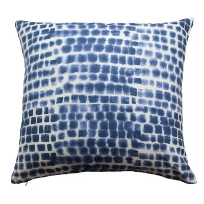 Spotted Grid Throw Pillow Color: Indigo Blue