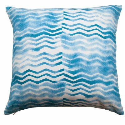 Soft Chevron Linen/Cotton Throw Pillow Color: Cerulean Blue