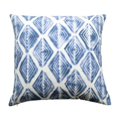Diamond Eyes Throw Pillow Color: Indigo Blue