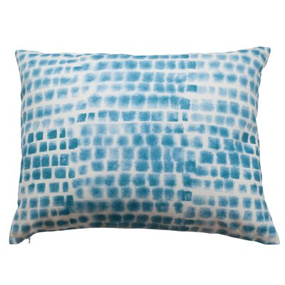 Spotted Grid Lumbar Pillow Color: Cerulean Blue