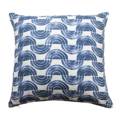 Serpentine Waves Throw Pillow Color: Indigo Blue