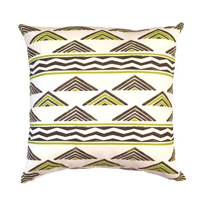 Aztec Chevron Throw Pillow Color: Chocolate Brown