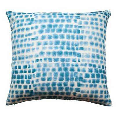 Spotted Grid Throw Pillow Color: Cerulean Blue
