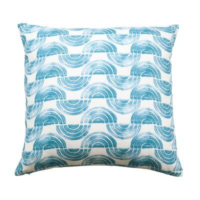 Serpentine Waves Throw Pillow Color: Cerulean Blue