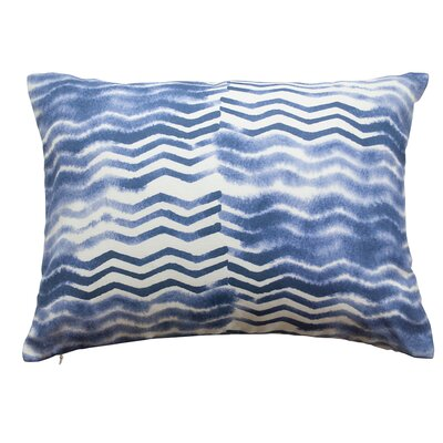 Soft Chevron Lumbar Pillow Color: Indigo Blue