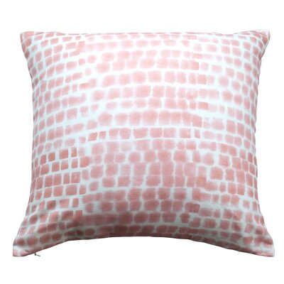 Spotted Grid Throw Pillow Color: Soft Peach