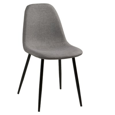 Gilbert Side Chair Upholstery: Grey, Finish: Metal