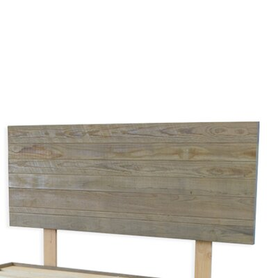 Alayna Industrial Barnwood Platform Bed Frame & Headboard Size: California King