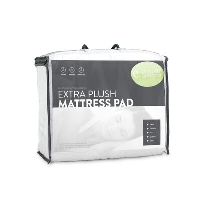 Economy Hypoallergenic Mattress Pad with Fitted Skirt Size: King