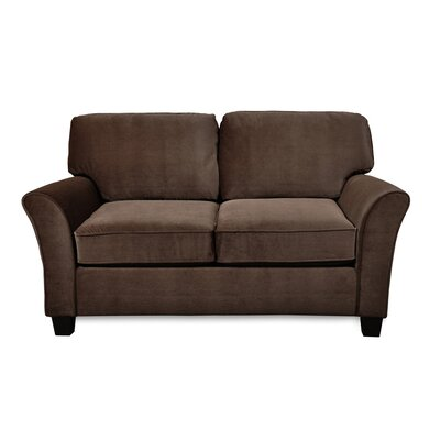 Parramore Standard Love Seat Upholstery: Caress Chocolate