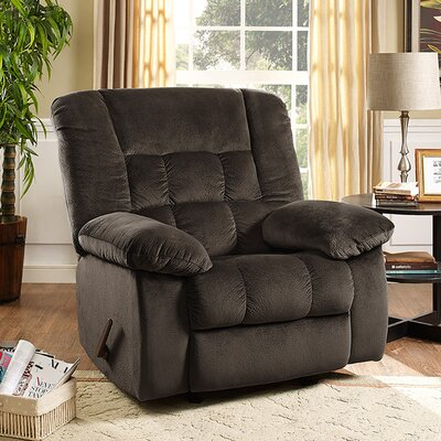 Nikhil Handle/Lever Rocker Recliner Upholstery: Chocolate