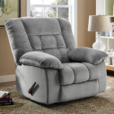 Nikhil Handle/Lever Rocker Recliner Upholstery: Smoke
