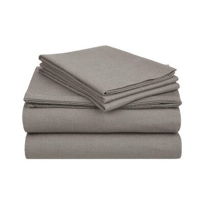 Ponte 100% Cotton Sheet Set Size: Twin, Color: Gray