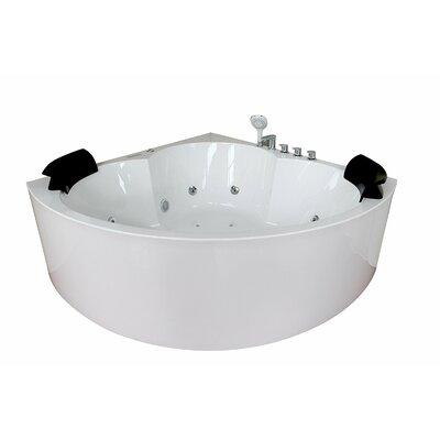 Luxury Modern Massage Jacuzzi 58.3 x 58.3 Freestanding Whirlpool Bathtub