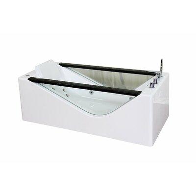 Luxury Modern Massage Jacuzzi 66.9 x 31.5 Freestanding Whirlpool Bathtub