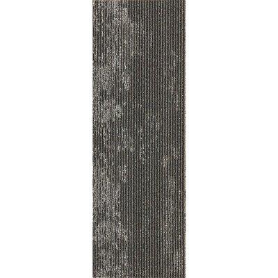Webster 12 x 36 Carpet Tile in Clean Slate Metallic