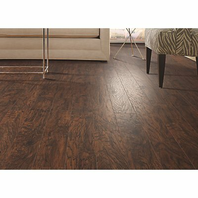 Hanbridge 5.25 x 47.25 x 11.93mm Hickory Laminate Flooring in Dark Brown