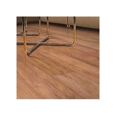 Hanbridge 5.25 x 47.25 x 11.93mm Hickory Laminate Flooring in Brown