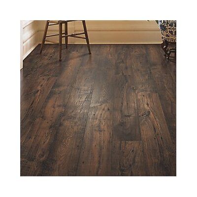 Rugged Vision 7.5 x 54.34 x 11.93mm Chestnut Laminate Flooring in Dark Brown