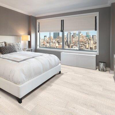 Arbordale Random Width Engineered Oak Hardwood Flooring in Artic White