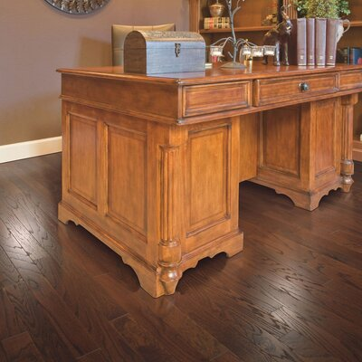 American Loft Random Width Engineered Oak Hardwood Flooring in Butternut