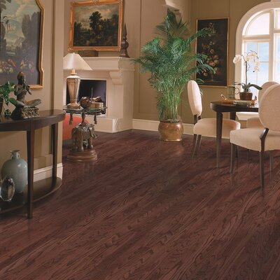 Oakbrooke Random Width Engineered Oak Hardwood Flooring in Cherry
