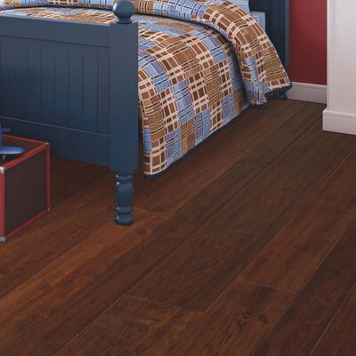 Kearny Random Width Engineered Hickory Hardwood Flooring in Sandy
