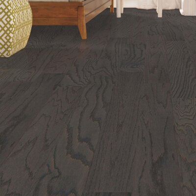 Palacio Random Width Engineered Oak Hardwood Flooring in Charcoal