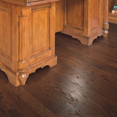 American Loft Random Width Engineered Oak Hardwood Flooring in Butternut