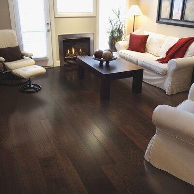 Sandridge Random Width Engineered Oak Hardwood Flooring in Barista