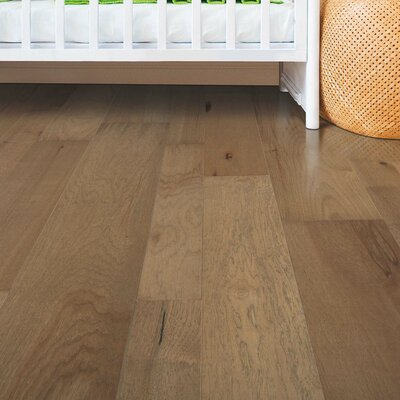 Sandridge Random Width Engineered Hickory Hardwood Flooring in Harvest