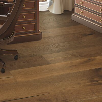 Arbordale Random Width Engineered Oak Hardwood Flooring in Caramel