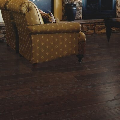 American Loft Random Width Engineered Oak Hardwood Flooring in Brandy