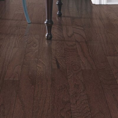 Greighley Random Width Engineered Oak Hardwood Flooring in Brandy