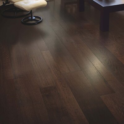 Alina Random Width Engineered Oak Hardwood Flooring in Barista