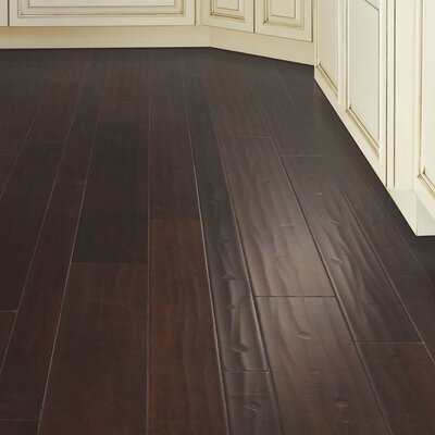 Kearny Random Width Engineered Hickory Hardwood Flooring in Cappuccino
