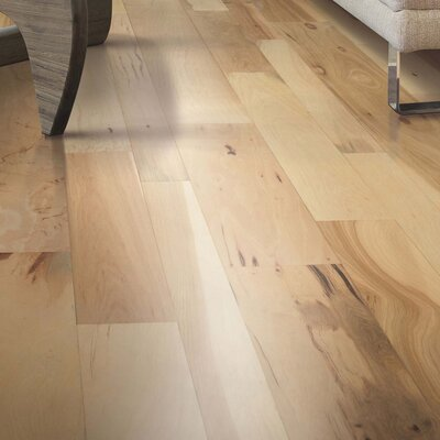 Sandridge Random Width Engineered Hickory Hardwood Flooring in Country Natural