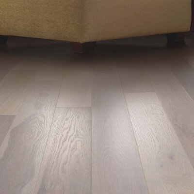 North Coast Random Width Engineered Oak Hardwood Flooring in Hearthstone