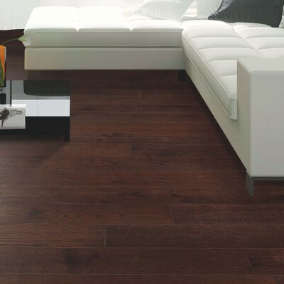 Clarkston Random Width Engineered Oak Hardwood Flooring in Walnut