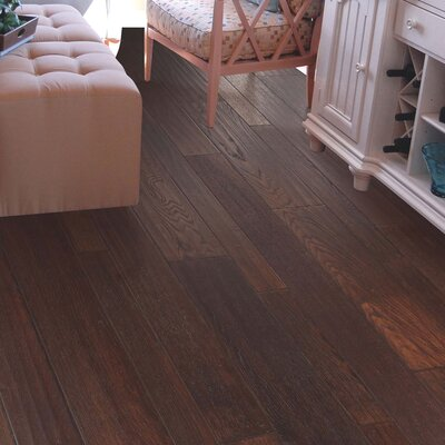 Penbridge Random Width  Engineered Oak Hardwood Flooring in Walnut