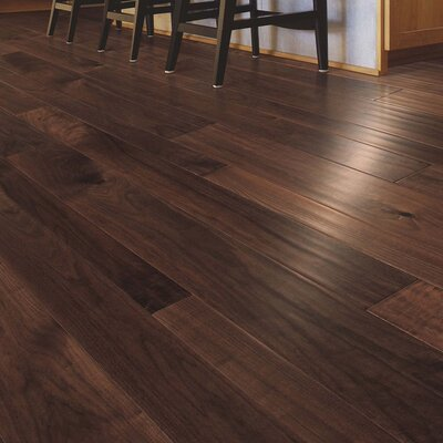 Kearny Random Width Engineered Walnut Hardwood Flooring in Natural Walnut